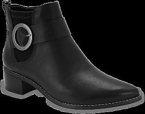 ankle boot ramarim salto baixo sola baixa preta - 1854103-preto