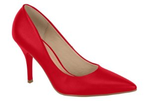 scarpin beira rio scarpin scarpin verniz vermelho - 4122900-vermelho