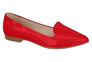 sapatilha sliper beira rio salto baixo feminino verniz vermelho - 4136125-vermelho