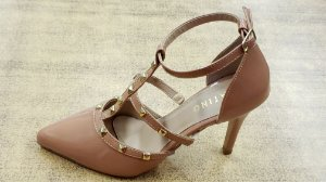 Sapato Sapatino Assandalhado Verniz Bege - sptno011518