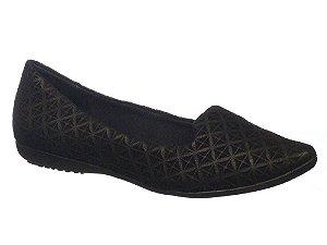 sapatilha bico fino slipper couro bottero preta - 261009-pto
