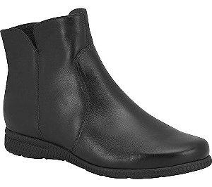bota cano curto bottero couro preto - 301906-pto