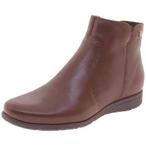 bota cano curto bottero couro marrom wood - 301906-wd