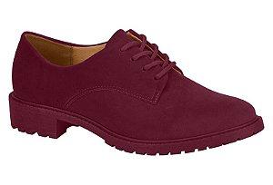 Sapato Oxford Tratorado Vizzano Nobuck Vinho - 1317101-vn