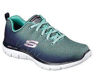 Tenis Esportivo Skechers Flex Appeal 2.0 Azul Aqua - 12763-Nvaq