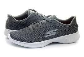 tenis esportivo skechers gowalk 4 glorify cinza - 14175-gry