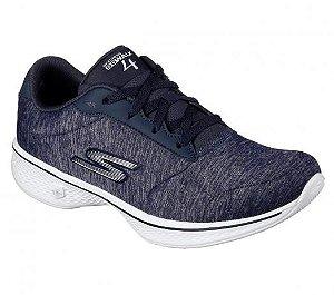 Tenis Esportivo Skechers Go Walk 4 Serenity Azul Marinho - Gow-14173-Nvw