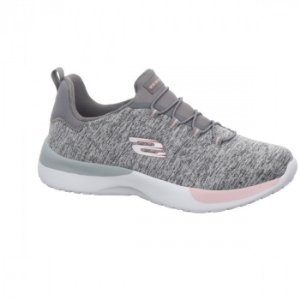 Tenis Esportivo Skechers Dynamight Break Through Cinza - R-12991-Gylp