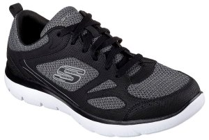 Tenis Esportivo Skechers Summits South Rim Preto E Branco - T-52812-Bkw