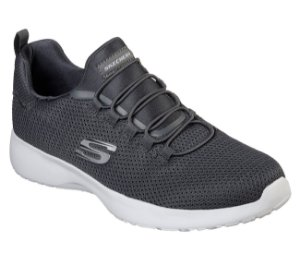 Tenis Esportivo Skechers Dynamight Cinza Chumbo - T-58360-Char