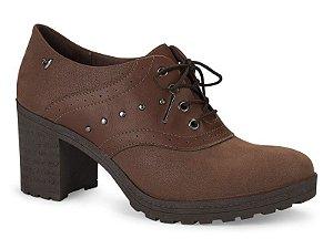 Sapato Oxford Salto Alto Mississipo Marrom Castanho - q0382-cast