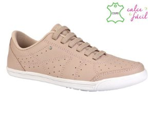 Tenis Casual Kolosh Feminino Couro Pelica Rosa Blush - C0054A-0004