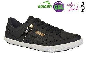 Tenis Casual Kolosh Feminino Preto - C0111A-0001