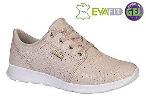 tenis jogging kolosh couro feminino rosa petala - c1141-0008