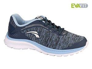 tenis esportivo kolosh tecido feminino malha mescla azul jeans - k8361-0007