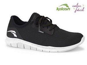tenis esportivo kolosh  feminino preto e branco - k8681-pto-bco