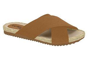 slide beira rio marrom camel - 8404102-cml