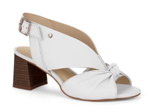 sandalia salto alto tanara couro branca - t3643-bco