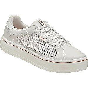 tenis flatform azaleia branco - 76834737-branco