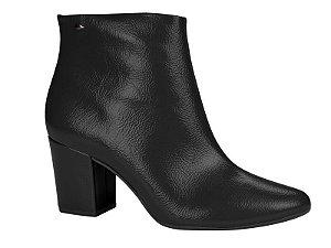 ankle boot dakota salto alto sintetico verniz molhado preto - g0011-0001