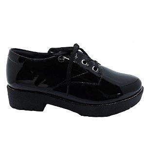 Sapato Oxford Quiz Salto Alto Tratorado
