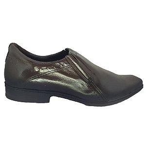 Sapato Social Pegada Loafer De Couro Bico Quadrado