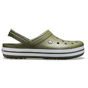 Sandalia Crocs Crocband Clog Green White