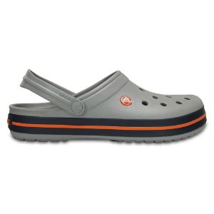 Sandalia Crocs Crocband Clog Light Grey Navy
