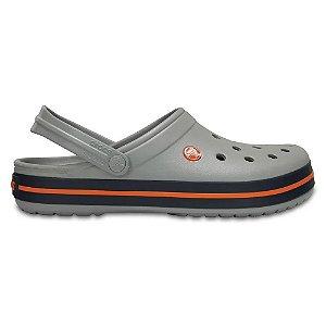 Sandalia Crocs Crocband Clog Light Grey Navy