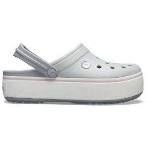 Sandalia Crocs Crocband Platform Light Grey Rose