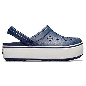 Sandalia Crocs Crocband Platform Navy White