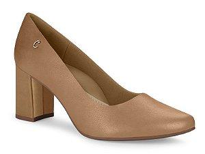 Sapato Scarpim Campesi Conforto Salto Bloco Couro