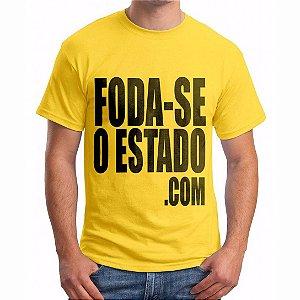 Camiseta Amarela Masculina - Foda-seoestado.com