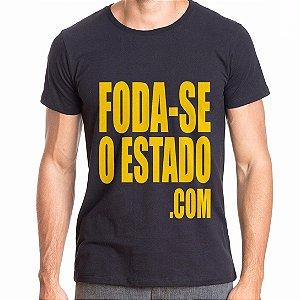 Camiseta Preta Masculina - Foda-seoestado.com