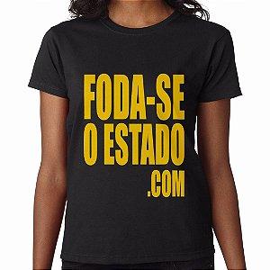 Camiseta Preta Feminina - Foda-seoestado.com