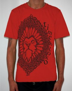 Camiseta Vermelha Leão Time