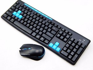 Kit Teclado E Mouse Gamer Sem Fio 1000dpi Wireless 10 Mt 2.4