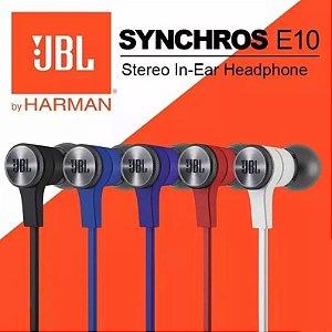 Fone De Ouvido JBL E10 Intra Auricular Com Microfone