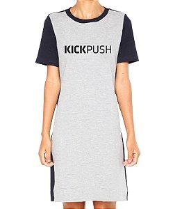 Vestido Cinza Kick Push