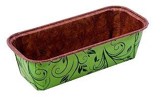Forma Bolo Inglês Plumpy Tam. M - Verde - 10UN - R$ 1,23 unitário
