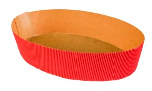 Forma Colomba - Oval 500 gr. - Vermelha - 10UN - R$ 1,58 Unitário