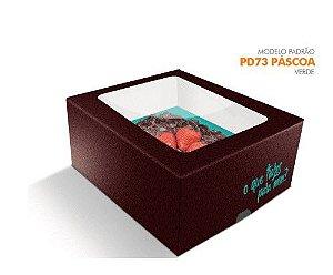 Caixa Pascoa para Ovo de colher Verde - 350/500 grs - R$ 5,25 a unidade