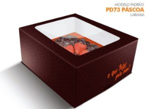 Caixa Pascoa para Ovo de colher Laranja - 350/500 grs - R$ 7,12 a unidade