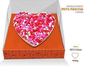 Caixa Pascoa para Ovo de colher Laranja - Berço coração - R$ 7,12 a unidade