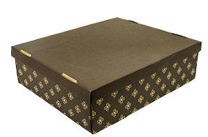 Caixa nº4 - 42 x 35 x 12 -  Impresso Marrom