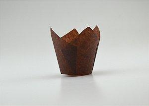 Forminhas Tulipas para CupCake – Marrom - 100UN - R$ 0,34 Unitário