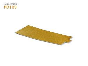 Porta Docinho Retangular Dourado 130x60mm - 1und.