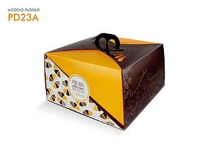 Embalagem Bolo Amarela 25x25x13,5 cm (1,5Kg) - 01 unid.
