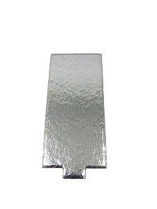 Porta Docinho Retangular Prata - Tam. 130x60 mm - c/ 10 unid.