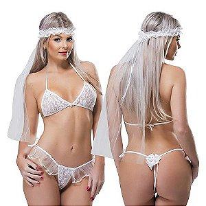 Kit Fantasia Desejos Noiva Sexy Fantasy